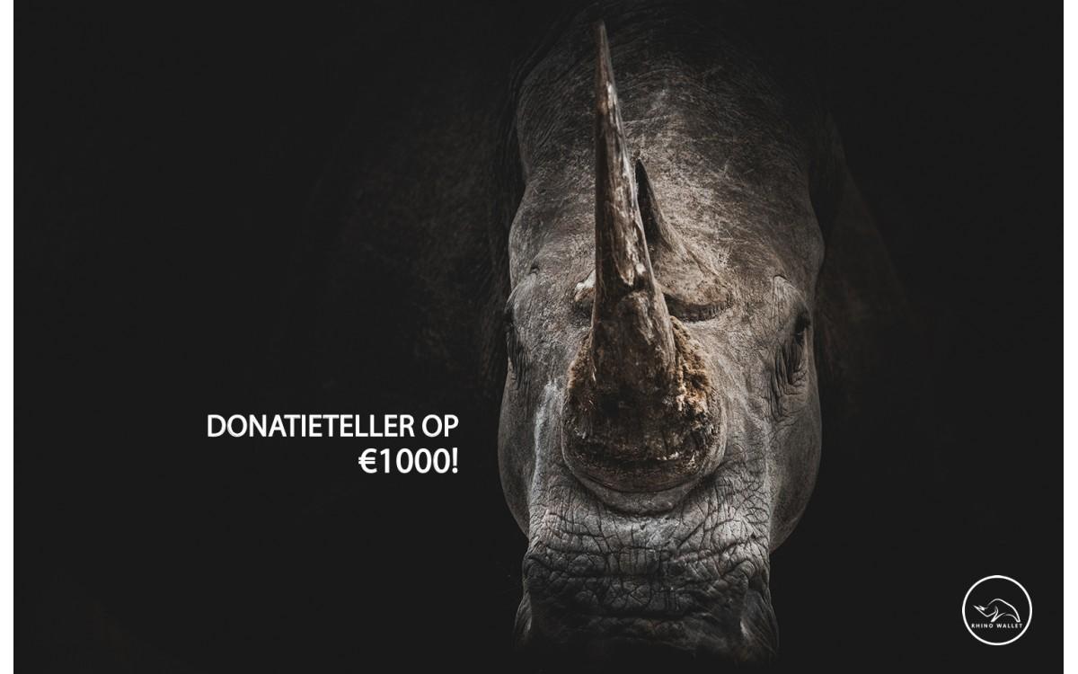 Donaties schieten over de 1.000 euro!
