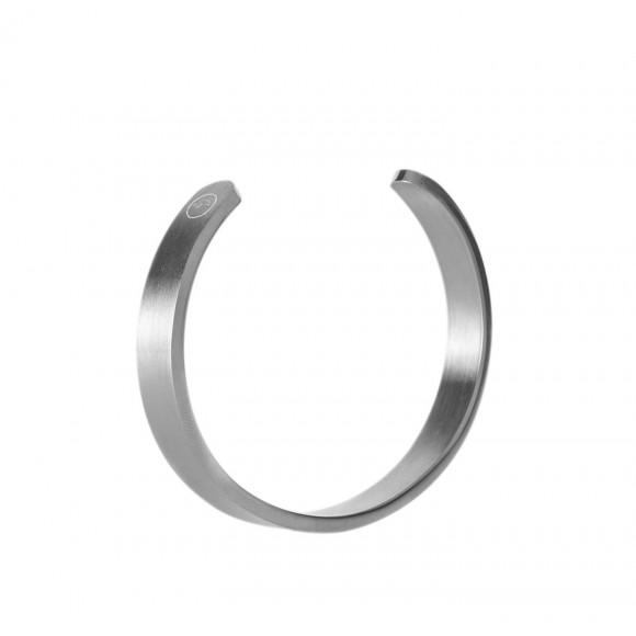 Rhino wristlet - Matted silver